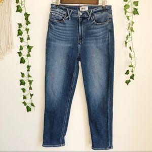 PAIGE Hoxton Slim Crop Jeans in Riptide